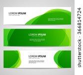 set of vector banners design... | Shutterstock .eps vector #366814724