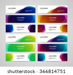 set of vector banners design... | Shutterstock .eps vector #366814751