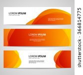 set of vector banners design... | Shutterstock .eps vector #366814775