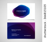 vector abstract business card... | Shutterstock .eps vector #366815105