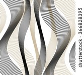 Wavy line pattern, mesh, curve, seamless vector background. | Shutterstock vector #366828395