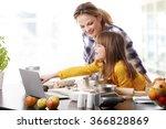 portrait of cute little girl... | Shutterstock . vector #366828869