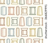 pattern with bobbins   Shutterstock .eps vector #366829991