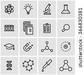 vector line science icon set.  | Shutterstock .eps vector #366830381