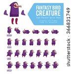 fantasy bird creature game... | Shutterstock .eps vector #366831749