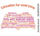 word cloud  collage . children... | Shutterstock .eps vector #366840434