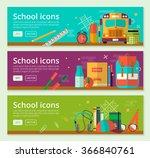 back to school banner concept... | Shutterstock .eps vector #366840761