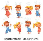 basic emotions. mad  sad  glad  ... | Shutterstock .eps vector #366844391