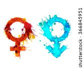 mars and venus signs made of... | Shutterstock .eps vector #366845951