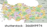 turkey   highly detailed... | Shutterstock .eps vector #366849974