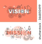 set of modern vector... | Shutterstock .eps vector #366850499