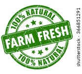 farm fresh natural stamp ... | Shutterstock .eps vector #366851291