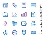 finance web icons set | Shutterstock .eps vector #366857195