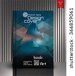 blank vertical hardcover book...   Shutterstock .eps vector #366859061