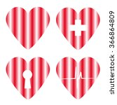 heart set | Shutterstock .eps vector #366864809