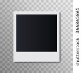 photo frame on a transparent... | Shutterstock .eps vector #366865865