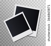 photo frame on a transparent... | Shutterstock .eps vector #366865871