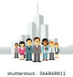 modern multicultural business... | Shutterstock .eps vector #366868811