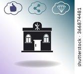 building restaurant vector icon. | Shutterstock .eps vector #366874481