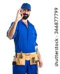 plumber making ok sign | Shutterstock . vector #366877799