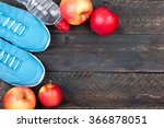 Sport Shoes  Apples And Bottle...
