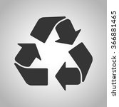recycling icon | Shutterstock .eps vector #366881465