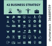 business strategy  icons  signs ... | Shutterstock .eps vector #366889559