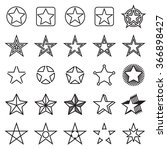 five pointed star icons.... | Shutterstock .eps vector #366898427