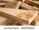 wooden sticks lie on a...