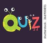 quiz text fun kids character... | Shutterstock .eps vector #366900851