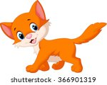 Stock vector cute cat cartoon 366901319