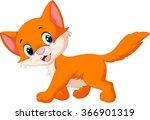 cute cat cartoon | Shutterstock .eps vector #366901319