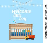 welcome baby little boy.  baby ... | Shutterstock .eps vector #366905225