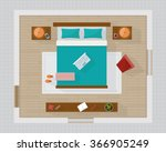 bedroom with furniture overhead ... | Shutterstock .eps vector #366905249