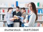 confident smiling student girl...   Shutterstock . vector #366913664
