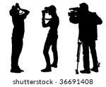 vector graphic cameraman at... | Shutterstock .eps vector #36691408