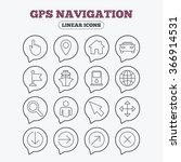 gps navigation icons. car and... | Shutterstock . vector #366914531
