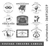 set of theatre labels. elements ... | Shutterstock .eps vector #366916319