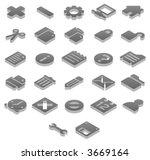 titanium 3d icons basic  1 of 2    Shutterstock .eps vector #3669164