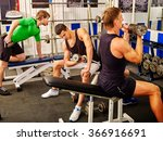 group of strong men hard... | Shutterstock . vector #366916691