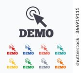 demo with cursor sign icon.... | Shutterstock . vector #366919115
