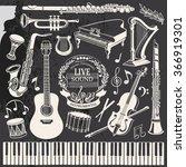 retro set of drawing vector... | Shutterstock .eps vector #366919301