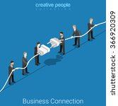 business connection flat 3d... | Shutterstock .eps vector #366920309