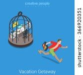 vacation getaway flat 3d... | Shutterstock .eps vector #366920351