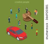 car automobile vehicle auction... | Shutterstock .eps vector #366920381