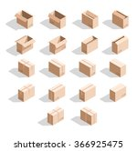 set of 18 realistic isometric... | Shutterstock .eps vector #366925475