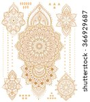 mandala set and other elements. ... | Shutterstock .eps vector #366929687