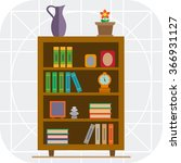 book shelves icon   Shutterstock .eps vector #366931127