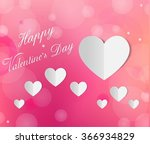 happy valentines day card | Shutterstock .eps vector #366934829