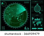 radar screen with planes and...